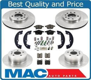 for 00-05 Saturn L100 200 300 LW  Frt & Rr Rotors & Pads W/ Parking Brake Shoes