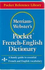 French English Pocket Dictionary Vocabulary Merriam Webster 2004 Phonetic Pronu