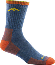 Darn Tough 1466 DENIM Merino Wool Mens Hiker socks L XL Hike Boot Work CUSHION