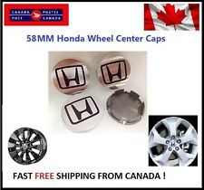 4 PCS HONDA ALUMINUM LOGO WHEEL CAP HUB CENTER 58MM FACE Chrome Finish