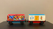 VIntage Wooden Magnetic Train Cars Thomas / Brio Compatible