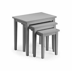 Julian Bowen Cleo Nest of Tables, Grey