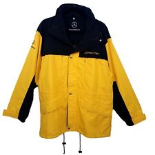 MERCEDES BENZ Med Sprinter Yellow Black Hooded Rain Gear Jacket Mens  Motorcycle