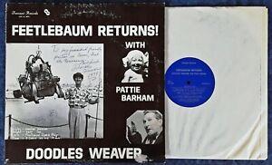 DOODLES WEAVER - FEETLEBAUM RETURNS - FREMONT LP - INSCRIBED BY DOODLES WEAVER