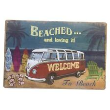 Shabby Chic Metal Tin Sign Plaque Wall Art Poster Decor -WELCOME TO BEACH