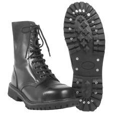best service 44ef9 63f4f Mil-Tec - Invader 10 Hole BOOTS Black Steel Toe Cap Leather Shoes Ranger EUR