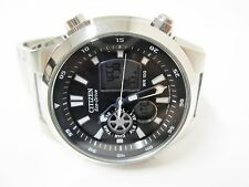 Citizen Eco-Drive World Time Analog / Digital Stainless Steel Watch - JZ1020-54E