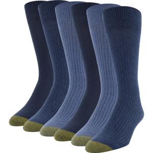 Gold Toe Stanton Men's 6 Pair Cotton Crew Socks