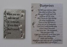 k FOOTPRINTS Pocket TOKEN Charm troubled times Lord is with you carries you Ganz