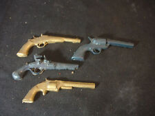 Old Vtg Collectible Plastic Toy Gun Silhouette Lot  Of 4