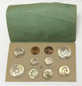 GENUINE 1953 D COIN MINT SET ORIGINAL GOVERMENT PACKAGING