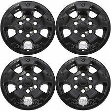 "4 BLACK 2005-2015 Toyota Tacoma 16"" Wheel Skins Hub Caps Full Alloy Rim Covers"