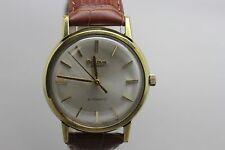 Vintage Bulova Aerojet 17j Automatic Gold Tone Wristwatch Men's Watch Running