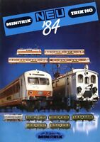 Trix Minitrix Neuheiten 1984 Prospekt Modellbahnprospekt brochure model railway