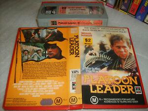 PLATOON LEADER - Rare 1988 RCA VHS Issue - Michael Dudikoff - Cult War Drama  D5