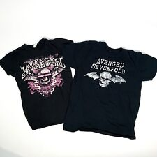 LOT of 2 AVENGED SEVENFOLD T-SHIRTS Winged Skull Logo Women's M/L