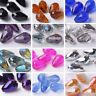 20pcs 15X10mm Teardrop Faceted Crystal Glass Loose Spacer Beads Jewelry Findings