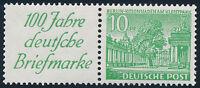 BERLIN 1949, Zusammendruck W 9, tadellos postfrisch, Mi. 85,-