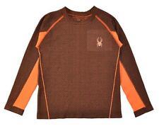 Spyder Girls L/S Orange & Black Top Size 5
