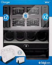 Nintendo Wii U Ladestation 4+1 Charger Black Schwarz NEU