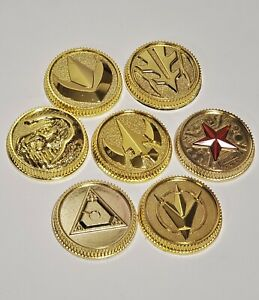Tommy Coin set of seven Gold coins made for the Bandai Legacy Morpher