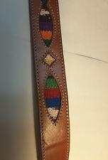VINTAGE WESTERN ETHNIC BELT SILVER CREEK - NO BUCKLE 90S LEEGIN genuine leather