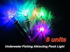 8 Pcs Underwater LED lights Fishing Attracting Light Deep Drop Lure Flashlight