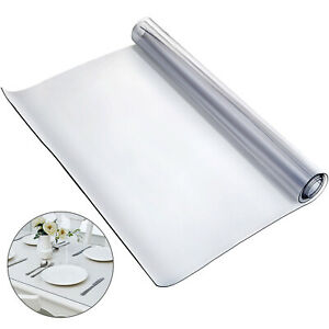 183X117cm Clear Plastic Table Cloth Cover PVC Tablecloth Protector Transparent