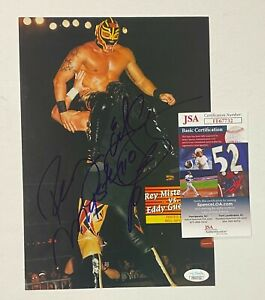 Eddie Guerrero & Rey Mysterio WWF Signed Autograph Auto Mag. Photo JSA d. 2005