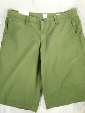 """Gap Mens Olive Green Shorts 33"""" New with Tags Flat Front 5 Pocket Style"""