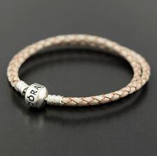 Authentic Pandora Champagne Leather Bracelet 38cm - 590705CPL-D2