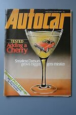 R&L Mag: Autocar 12 Jan 1980, Triumph 2000-2500/Datsun Cherry & Bluebird