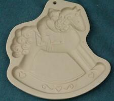 BROWN BAG COOKIE ART MOLD: Bear Riding Rocking Horse (1993)