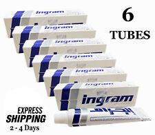6 Tubes x 60 gm Ingram Cool Lather Shave Cream Men Toilet Smooth Skin Shaving