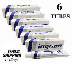 6 Tubes x 60 gm Ingram Cool Lather Shave Cream Men Toilet Smooth Skin Shaving