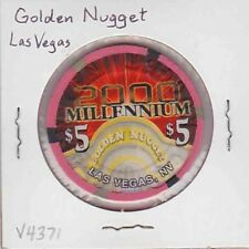 Vintage $5 chip from the Golden Nugget Casino (1999) Las Vegas