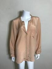 Joie Silk Button Up Blouse in Dusty Rose Size L