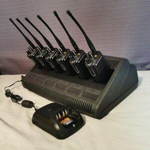 Motorola DP4400e Set 6 + Multi Charger Professional Digital Radio Security/Event