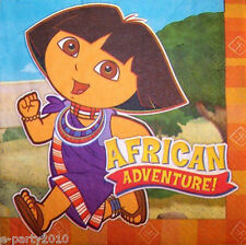 DORA THE EXPLORER African Adventure LUNCH NAPKINS (16) ~ Birthday Party Supplies