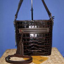 Dooney & Bourke Lani Croco Emb Leather Crossbody Brown T'Moro