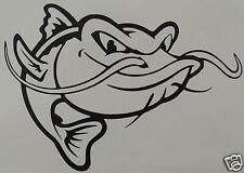 1 X LARGE ANGRY CATFISH   Sticker/Decal /Fishing/Angling/Carp