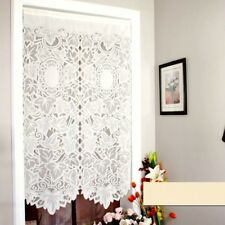 French Country Lace Cutwork Door Window Curtain Panel Kitchen Room Divider White
