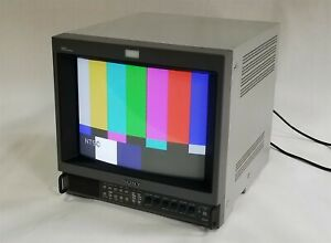 "Sony Trinitron HR PVM-14M4U 14"" Color Retro Gaming CRT Hi-Res Monitor BNC"