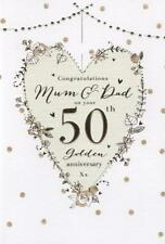 for a Special Mum and Dad on Your 50th Golden Wedding Anniversary Card 8257