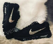 Swarovski Elements NIKE Women's AIR MAX 2017 - BLACK - 849560 001 Women's Size 9