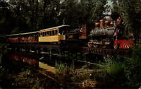 Train Cedar Point Lake Erie Railroad Sandusky Ohio ~ 1950s-60s vintage postcard