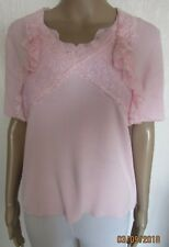 NWT PINK LACE DEATIL TOP SIZE S/M 10/12