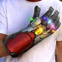 Avengers Endgame Tony Stark Infinity Gloves Iron Man Gauntlet Cosplay Prop ZD4t