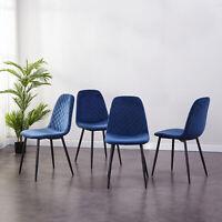 2er Set Blau Esszimmerstühle Samt Stuhl Küchen Wohnzimmer Stuhl Polsterstuhl