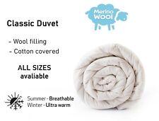 MERINO WOOL DUVET QUILT - WOOL & COTTON  NATURAL BED Duvet  ALL SIZES 10.5-8 TOG
